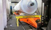 Movella: Anwendungsgebiete - Schwerindustrie-Workshops - Paper Mill Roll Into Paintshop