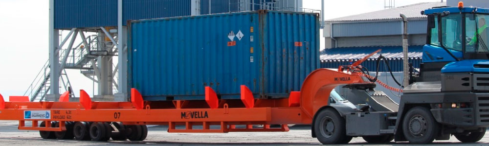 Movella: Applications - Ports - R4 Translifter with Container